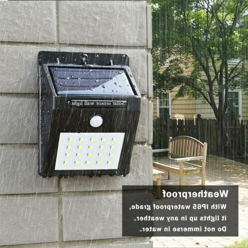 Outdoor 20 LED Wall Lights Power PIR Path