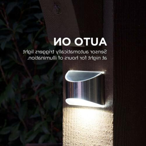 Solar Powered 4-LED Lights Waterproof New