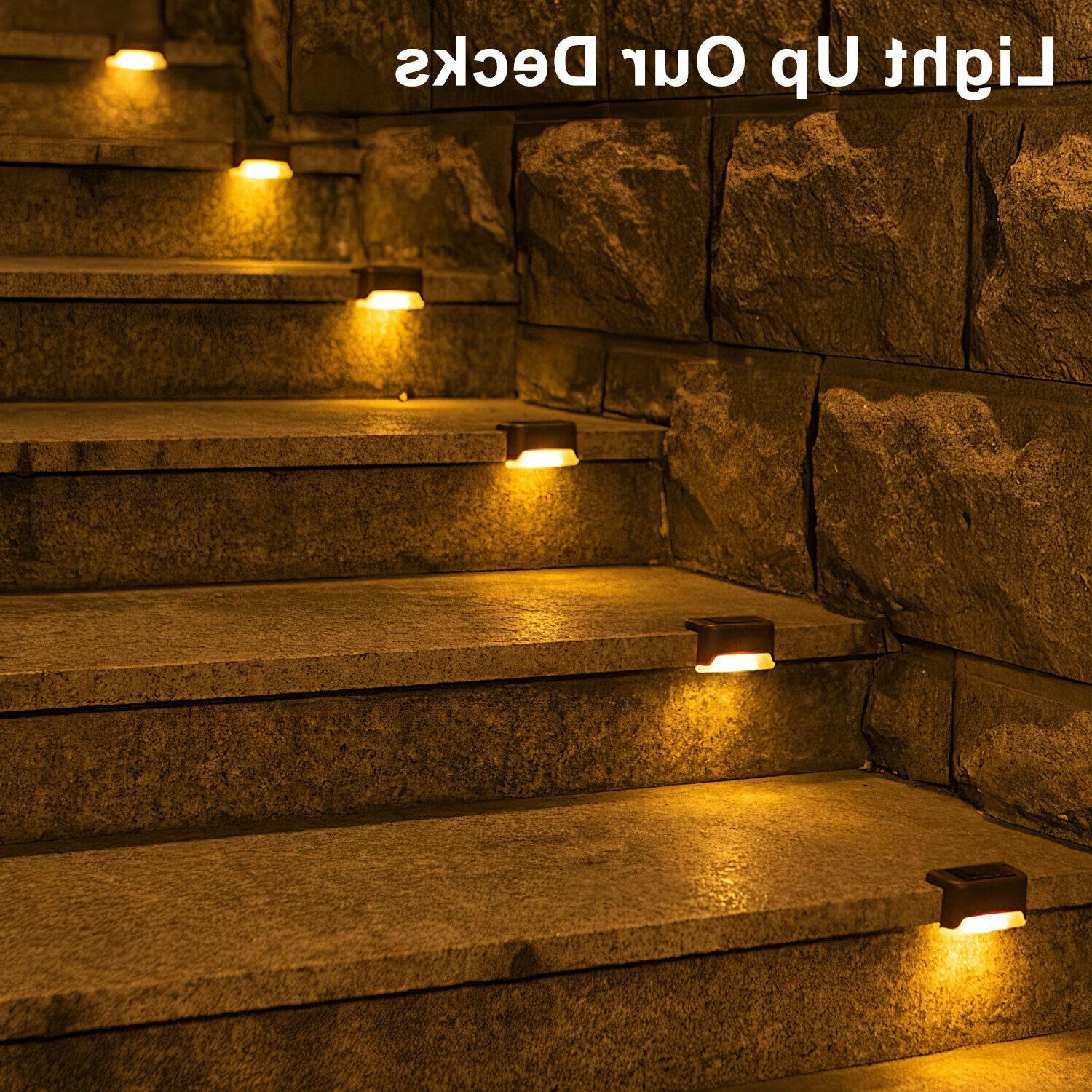 Outdoor Solar Pathway Stairs Lamp
