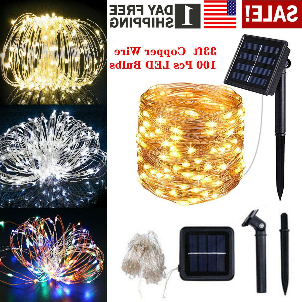 solar powered led rope patio string fairy