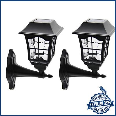 Solar Wall Lantern Outdoor Lights Sconce Led Fixture with Wa