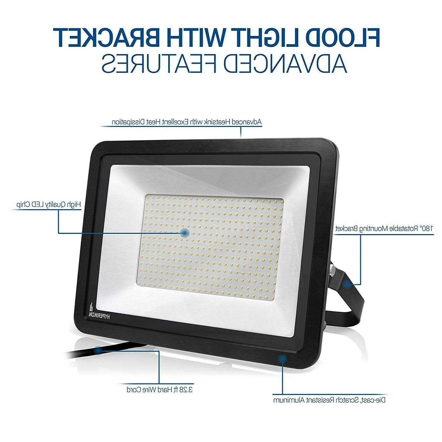 two 300w led flood lights outdoor 1200
