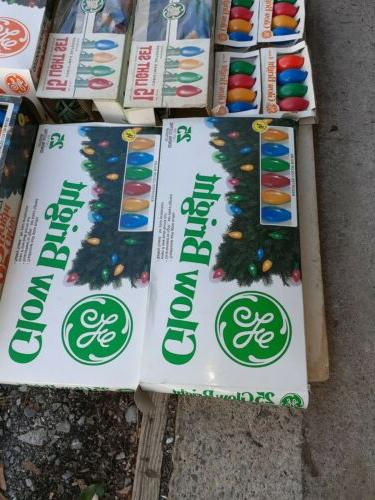 VINTAGE Lot of GE Outdoor C9 Christmas