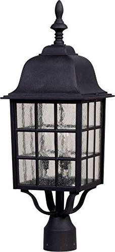 Craftmade Z575-05 Post Mount Light with Seeded Glass Shades,