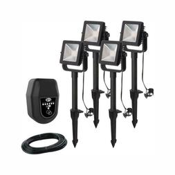 Hampton Bay Landscape Flood Light Low Voltage Outdoor Integr