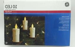 GE LED Candle-Style Stay Bright Christmas Lights 10 Pre-Lit