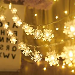 LED Christmas Lights Outdoor Indoor Garland Snow Fairy Light