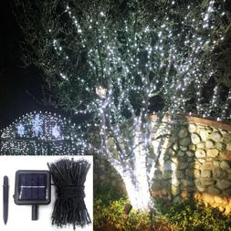 LED Solar String Outdoor Indoor Fairy Cool White Christmas W