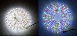 50ft LONG LED Rope Lights Multi Color White Indoor Outdoor C