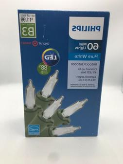 Philips 60 ct LED Mini String Lights Pure White Indoor/Outdo