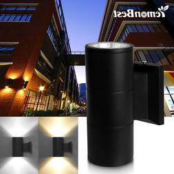 Modern Waterproof Porch Lights Cylinder Wall Sconces Up Down