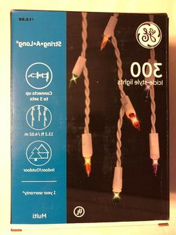 NEW GE 300 COUNT ICICLE STYLE LIGHTS MULTICOLOR LIGHTS WHITE