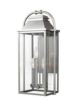 ol13201pbs wellsworth outdoor wall light painted brushed
