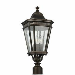 """Feiss OL5427 Cotswold Lane 3 Light 22-3/8"""" Tall Outdoor Sing"""