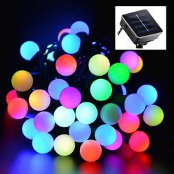 Outdoor 20ft 50 LED Solar String Ball Lights Waterproof Colo
