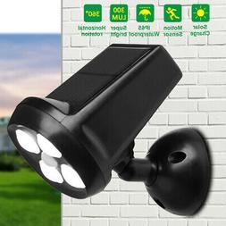 Outdoor 4 LED Solar Motion Sensor Light Security Waterproof