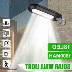 Outdoor Commercial 18 LED Solar Street Light IP55 Waterproof
