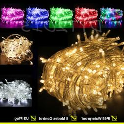Outdoor Fairy Lights 100-200 LED Waterproof Christmas Tree W