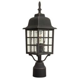 Craftmade Outdoor Grid Cage Cast Aluminum Large Post Mount,