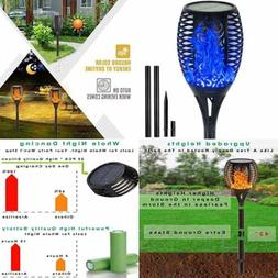 Outdoor Solar Lights Flickering Flame Torches Dusk To Dawn A