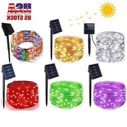 outdoor solar string lights led waterproof copper