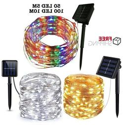 5M 10M 20M Outdoor Solar String Lights Waterproof LED Copper