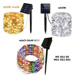 Outdoor Waterproof Copper Wire Solar String Lights LED Garde