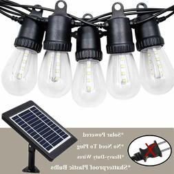 Outdoor Solar String Lights with Clear Shatterproof Bulbs Wa