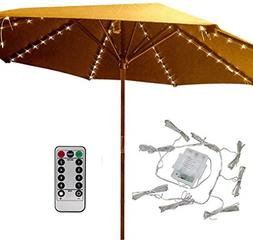104 LED String Lights with Remote Control Umbrella Waterproo