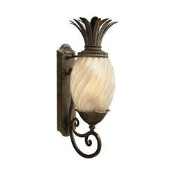 Plantation Outdoor Wall Lantern in Pearl Bronze with Energy
