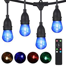 DEWENWILS RGBW Color Changing Outdoor LED String Lights, Dim