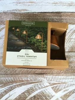 Smith & Hawken LED Outdoor Path Lights Copper 4 PK Includes