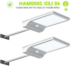 Solar Gutter Lights Wall Sconces with Mounting Pole Outdoor