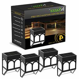 InSassy Solar Wall Outdoor Lights - Wireless Led Waterproof