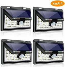Solar Lights Outdoor, 3 Optional Modes Wall Mounted Motion S