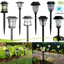SOLAR Outdoor Integrated LED Landscape Path Lights Lens Pati