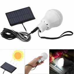 Solar Panel Power LED Bulb Lights Rechargeable Outdoor Campi