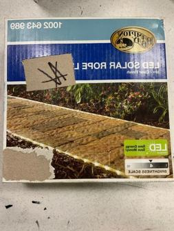Solar Powered 16 ft. Clear Outdoor Integrated LED 5000K Land