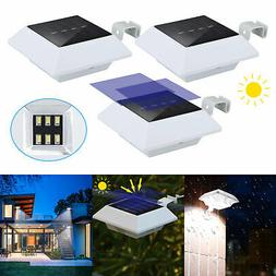 Solar Powered 6 LEDs Outdoor Garden Yard Wall Fence Pathway