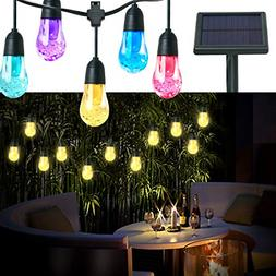 Solar Powered LED Outdoor Indoor String Lights 12 Hanging Pa