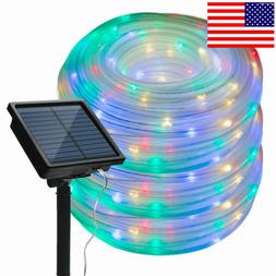 Solar Powered Rope Night Fairy String Twinkle Lights Waterpr
