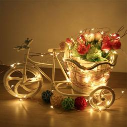 Solar String Lights Starry Copper Wire Ambiance Lighting for