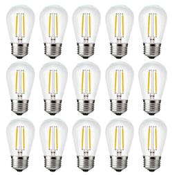 S14 E26 Edison 2W LED Clear Bulbs String Light Replacement B