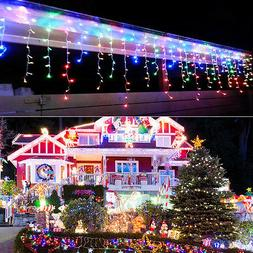 US 10~100FT 96~960 LED RGB Fairy String Icicle Curtain Light