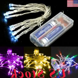 US Battery Operated 10LEDs/1M AA String Fairy Lights Indoor/