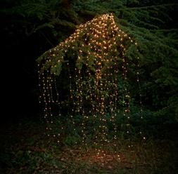 US Outdoor LED Lights Waterfall String Fairy icicle Lights P