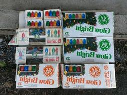 VINTAGE Lot of 4 GE GLOW BRIGHT Outdoor C9 Christmas Lights