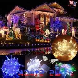 Waterproof Icicle LED String lights Strip Home Outdoor Chris