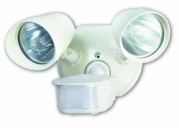 Designers Edge White Twin Head Halogen Security Light