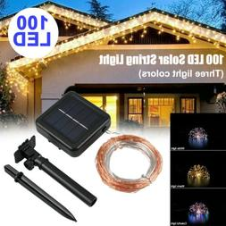 Xmas 100/200 LED Solar String Lights 20M Fairy Outdoor Garde